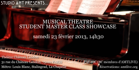 Music Theatre Master Class Student Showcase